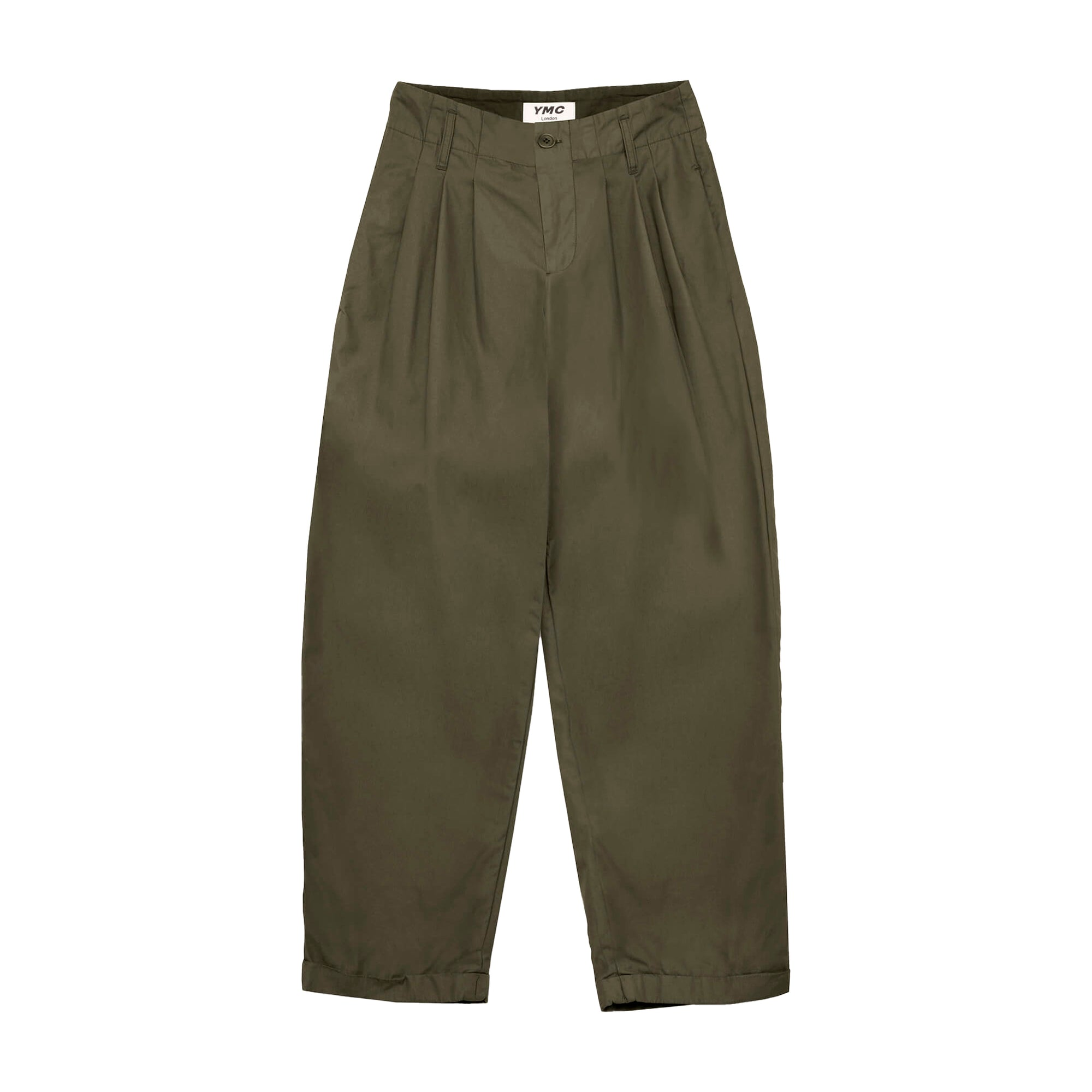 YMC Womens Keaton Trousers: Olive - The Union Project
