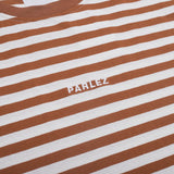 T-Shirts Parlez Ladsun Heavy Stripe T-Shirt: Brown - The Union Project, Cheltenham, free delivery