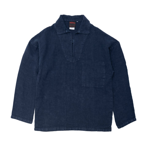 Outerwear Vetra Heavy Linen Smock: Navy - The Union Project, Cheltenham, free delivery