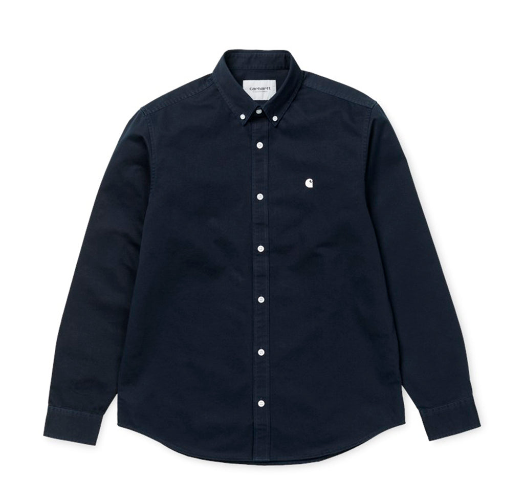 Carhartt WIP Madison Shirt L/S: Dark Navy / Wax - The Union Project