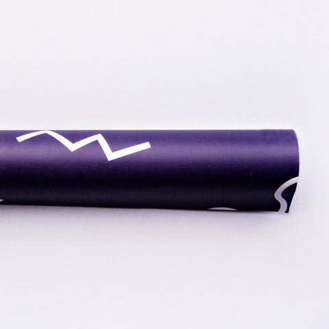 The Completist Navy Memphis Shapes Gift Wrap