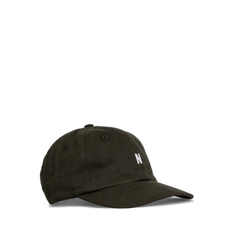 Norse Projects Light Twill Sports Cap: Beech Green