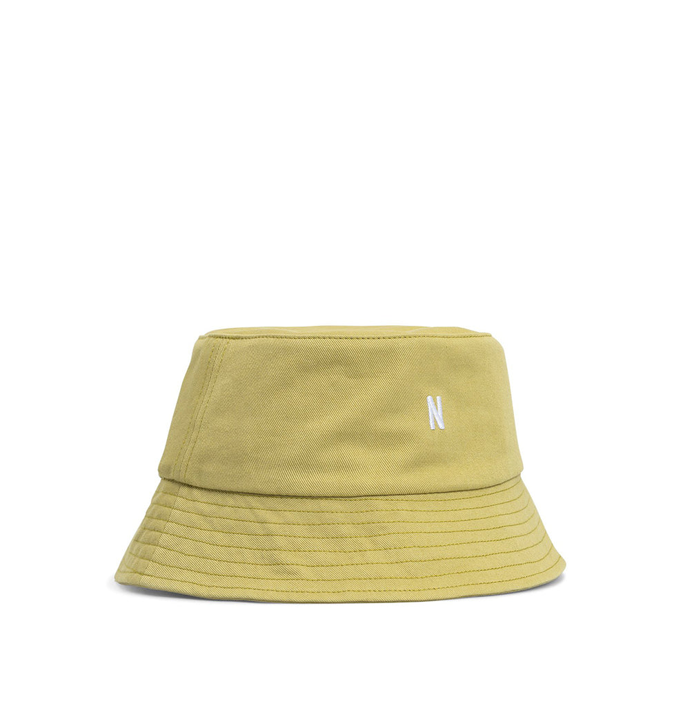 Norse Projects Twill Bucket Hat: Chartreus Green - The Union Project