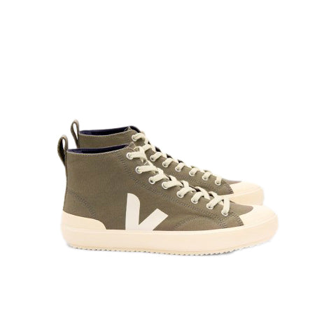 Veja Nova Hi-Top Vegan Canvas: Khaki / Butter Sole