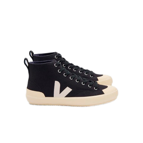 Veja Nova Hi-Top Vegan Canvas: Black / Butter Sole