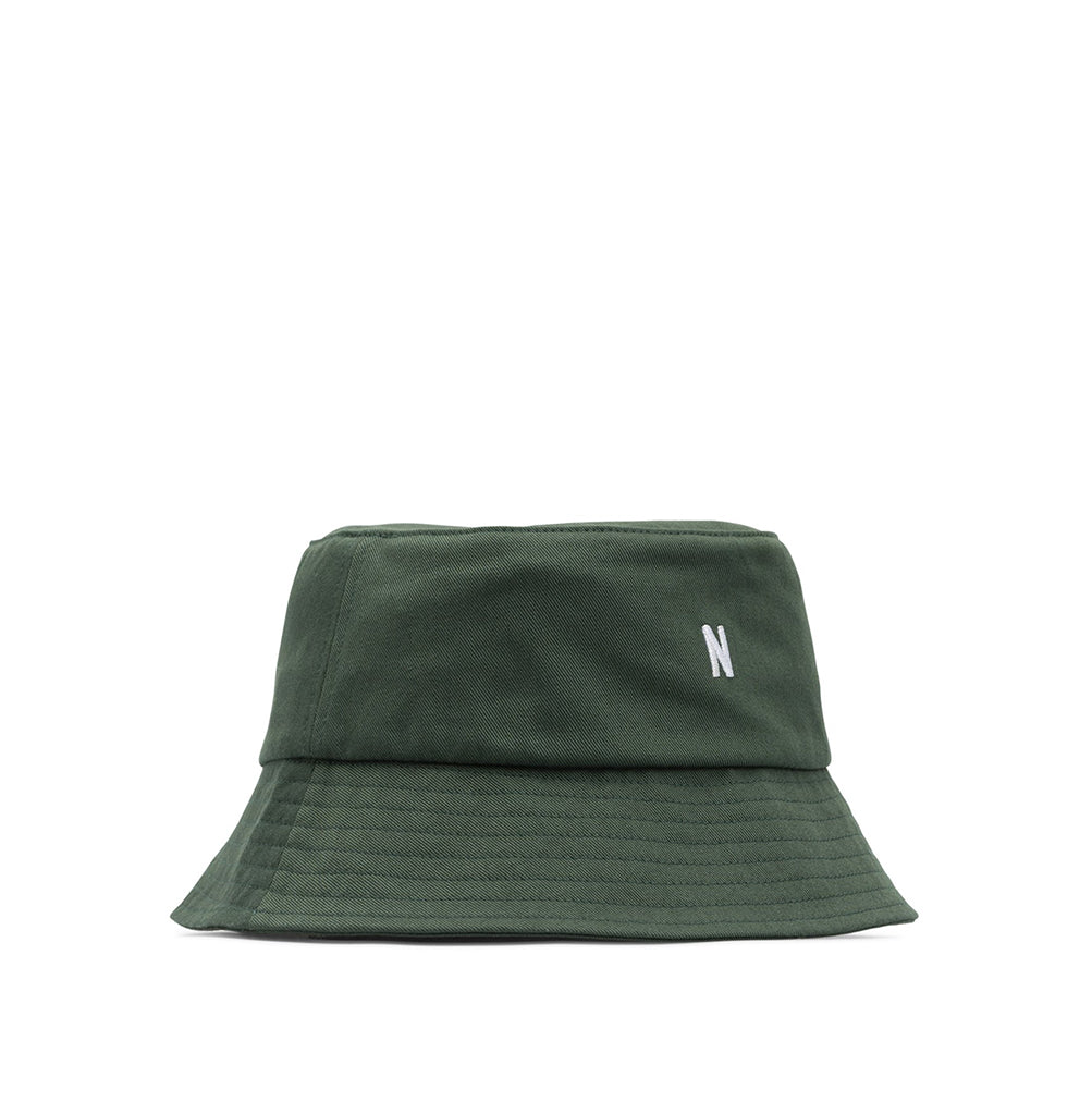 Norse Projects Twill Bucket Hat: Dartmouth Green - The Union Project