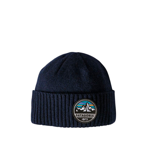 Patagonia Brodeo Beanie: Fitz Roy Scope: Navy Blue
