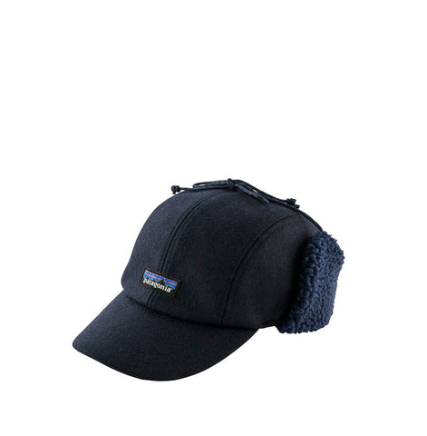 Patagonia Wool Ear Flap Cap: Classic Navy