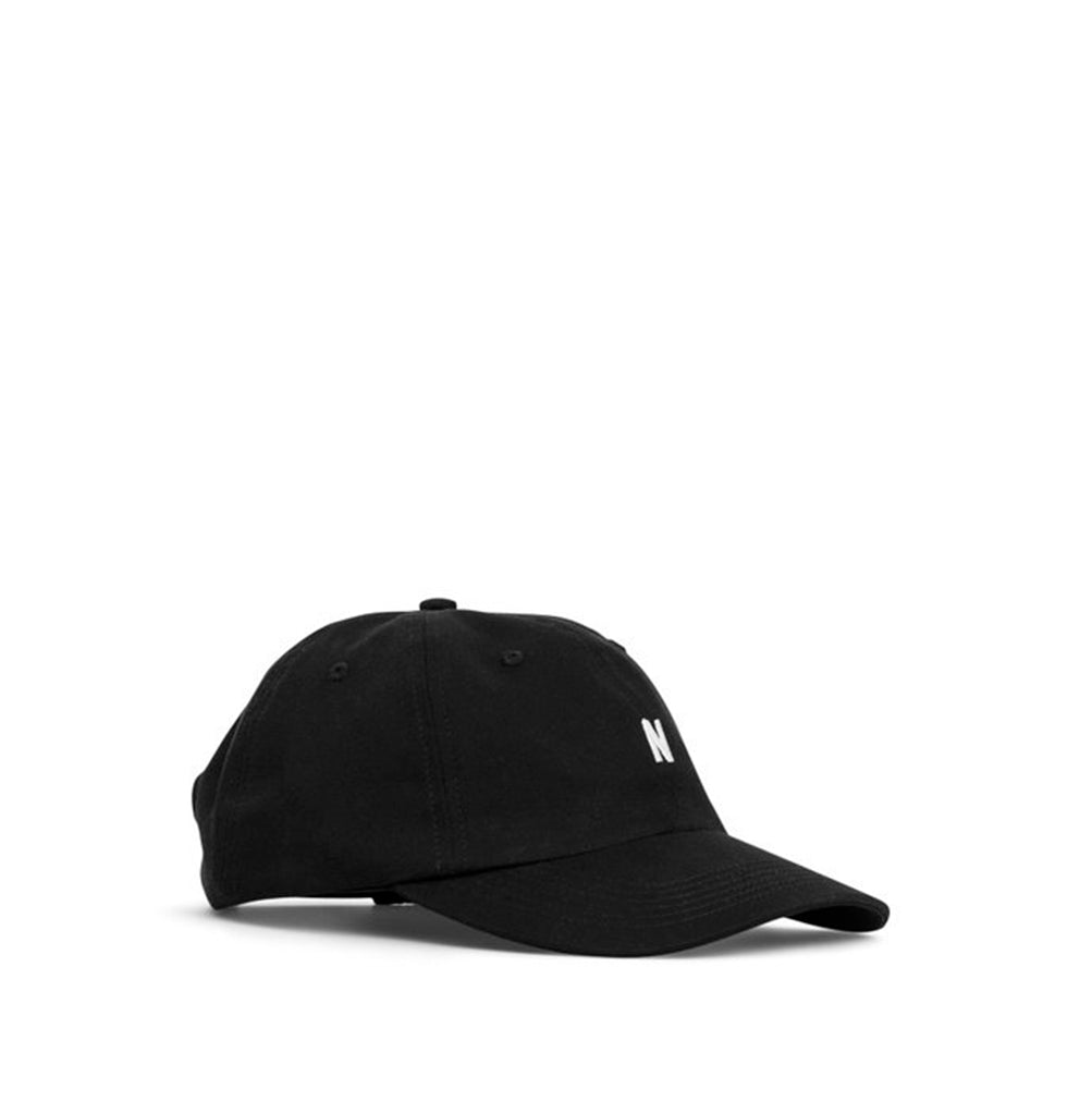 Norse Projects Twill Sports Cap: Black - The Union Project