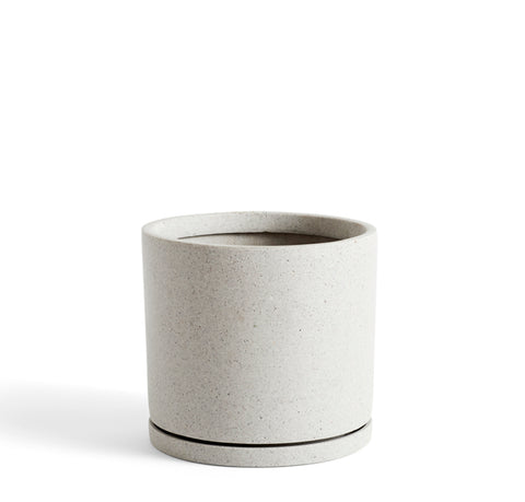 Plant Pots + Vases Hay Plant Pot w/ Saucer XXL: Grey - The Union Project, Cheltenham, free delivery