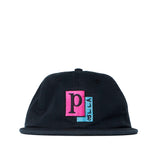 Headwear Parra Pages 6 Panel Hat: Black - The Union Project, Cheltenham, free delivery