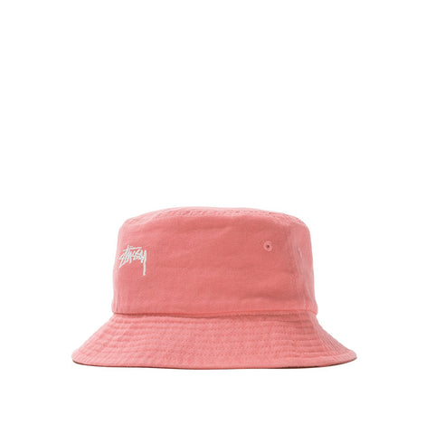 Headwear Stussy Stock Canvas Bucket Hat: Pink - The Union Project, Cheltenham, free delivery