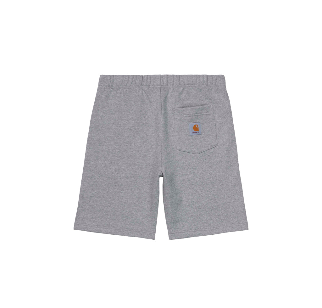 Carhartt WIP Pocket Sweat Short: Grey Heather - The Union Project
