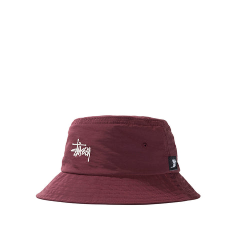 Stussy Reversible Bucket Hat: Berry
