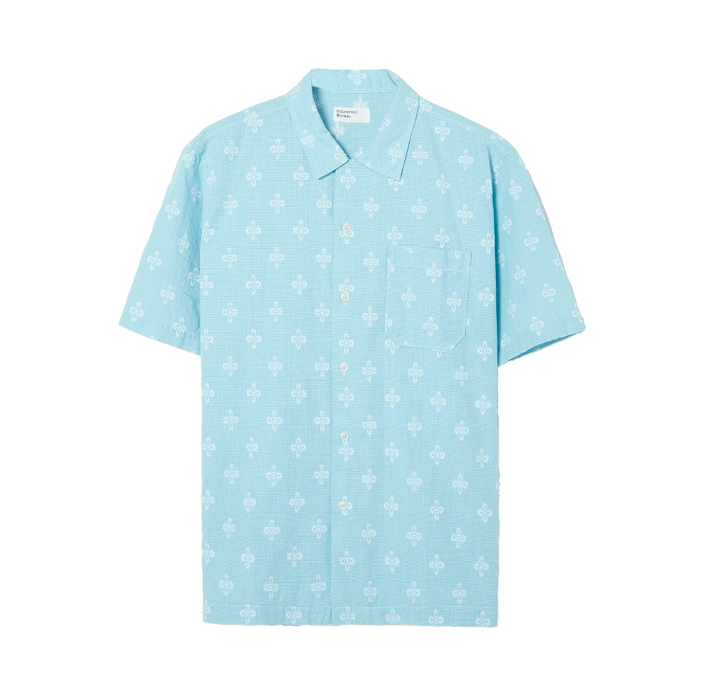 Shirts Universal Works Road Shirt Venice Shirting: Sky Blue - The Union Project, Cheltenham, free delivery