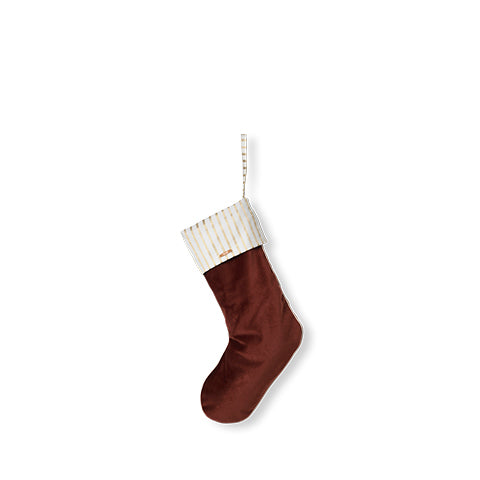Home Accessories Ferm Living Christmas Velvet Stocking: Rust - The Union Project, Cheltenham, free delivery