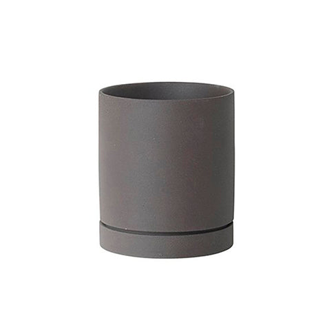 Plant Pots + Vases Ferm Living Sekki Pot Large: Charcoal - The Union Project, Cheltenham, free delivery