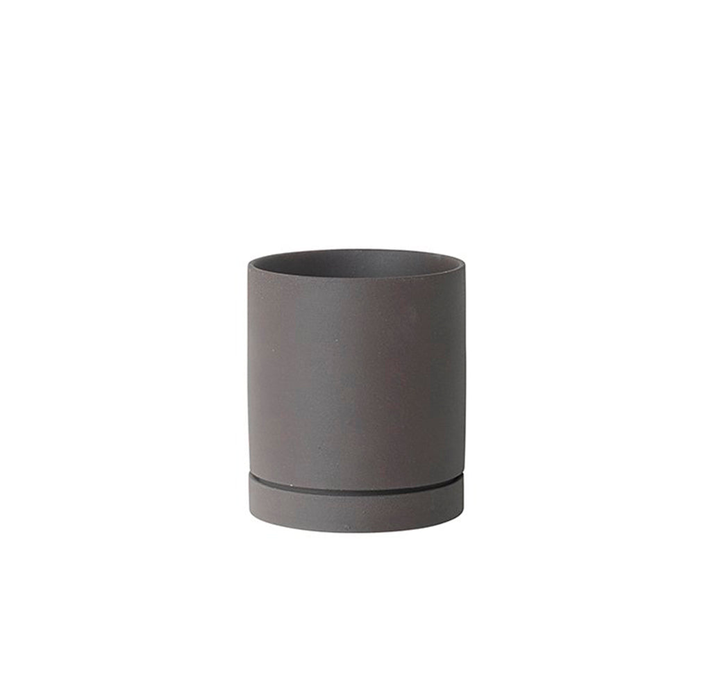 Ferm Living Sekki Pot Medium: Charcoal - The Union Project