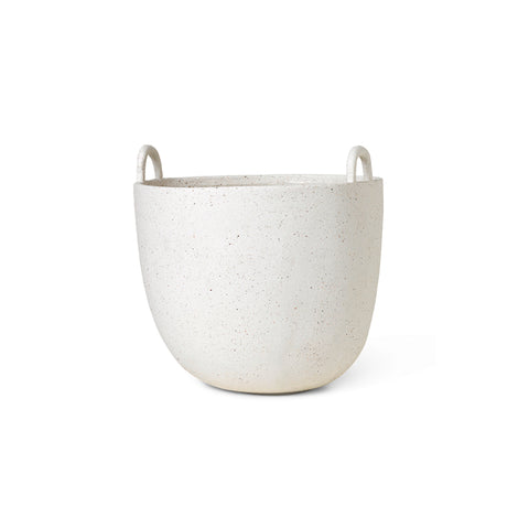 Ferm Living Speckle Pot Large: Off White.
