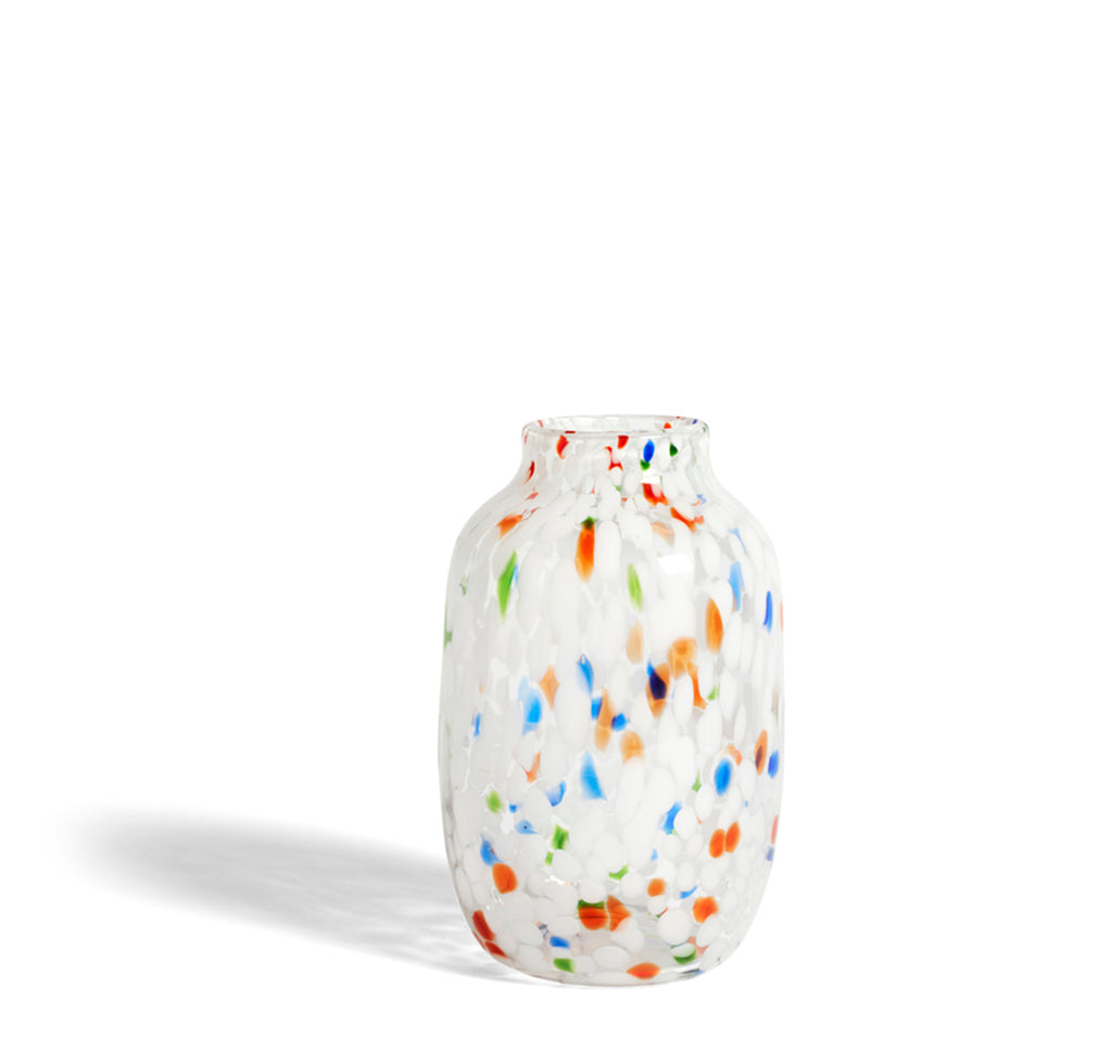 Hay Splash Vase Round L: White Dot - The Union Project