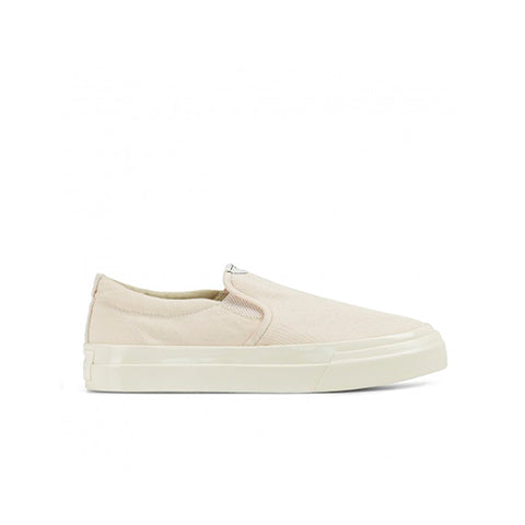 Stepney Workers Club Womens Canvas Lister Slip On: Ecru - The Union Project