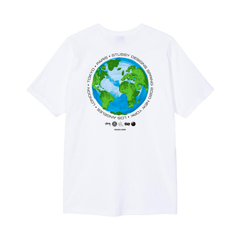 Stussy Global Design Corp. Tee: White