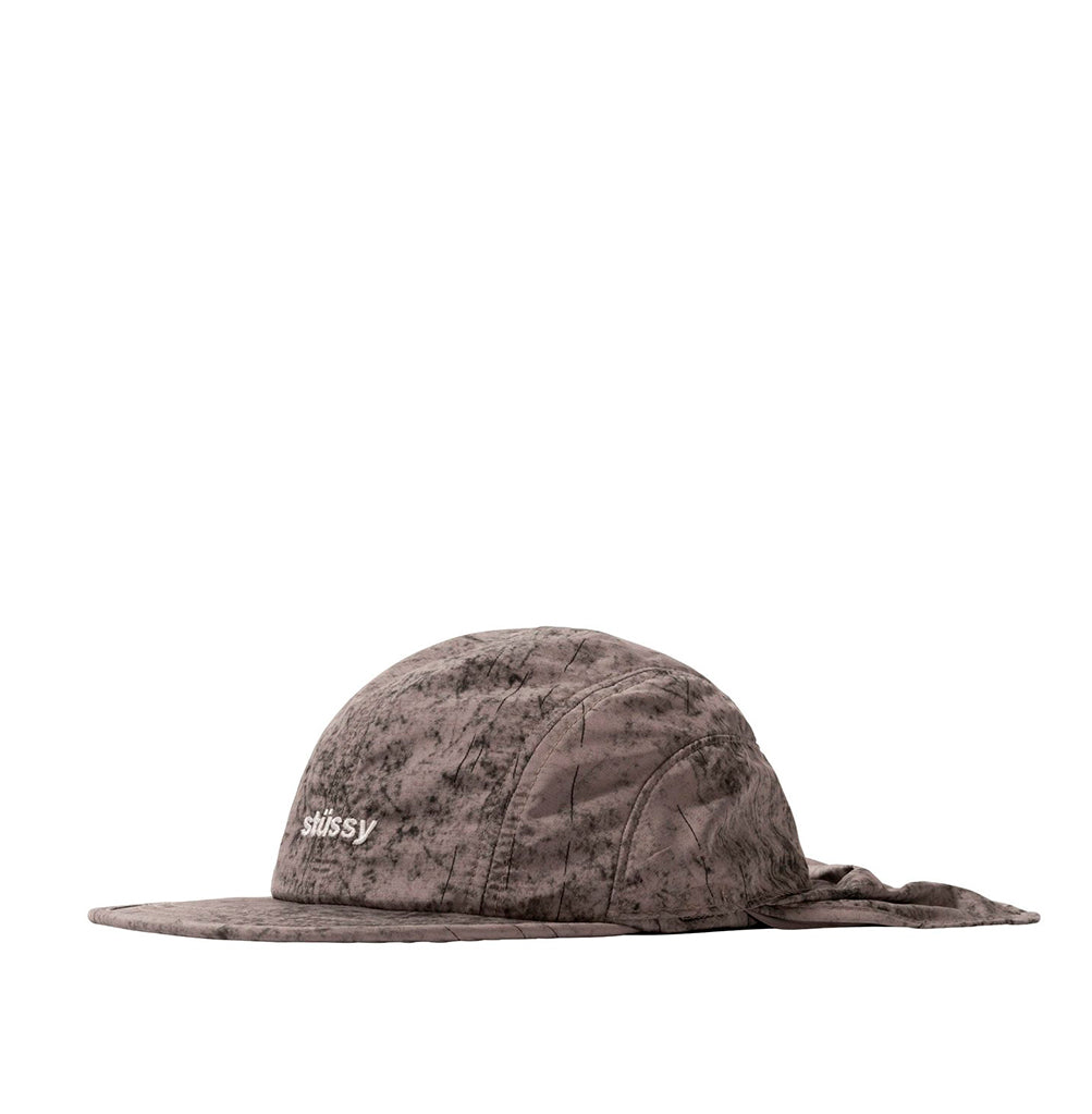 Stussy Dyed Nylon Bungee Camp Cap: Grey - The Union Project