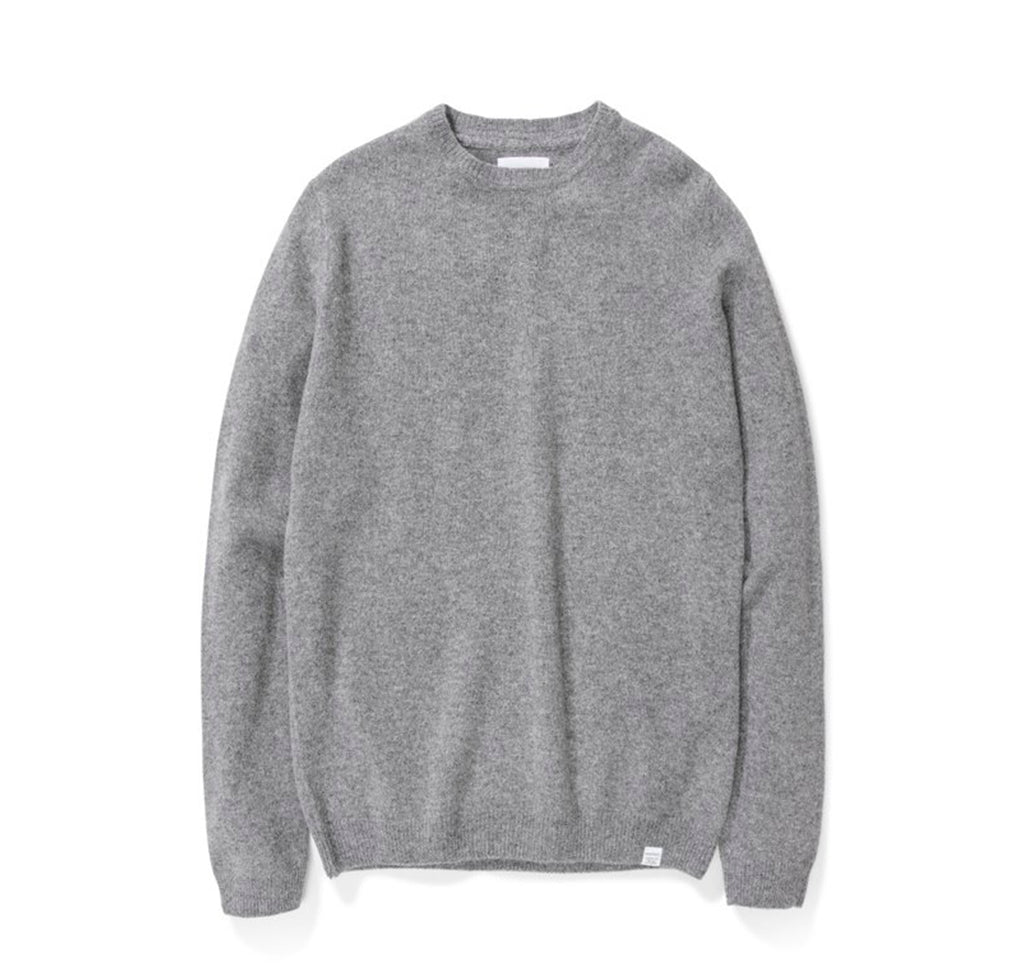 Norse Projects Sigfred Lambswool: Light Grey Melange - The Union Project