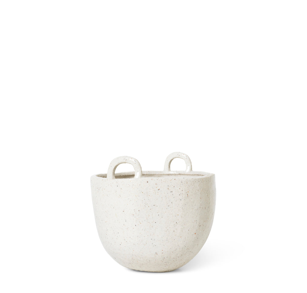 Ferm Living Speckle Pot Small: Off White. - The Union Project