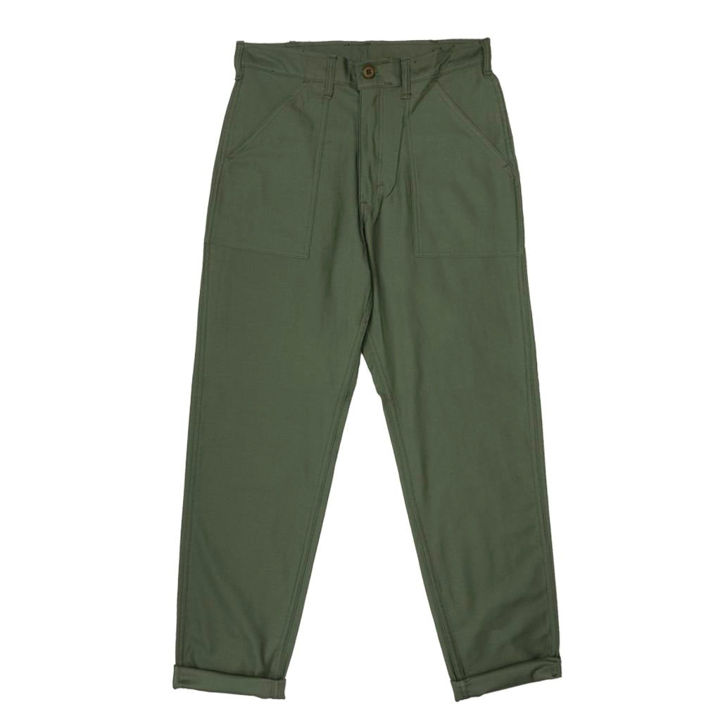 Legwear Stan Ray 1200 Tapered Fatigue Pant: Olive Sateen - The Union Project, Cheltenham, free delivery