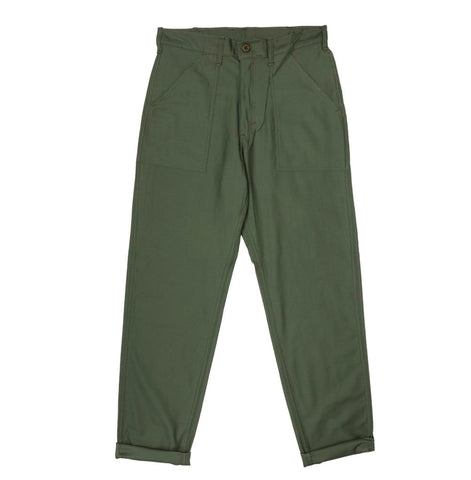 Stan Ray 1200 Tapered Fatigue Pant: Olive Sateen
