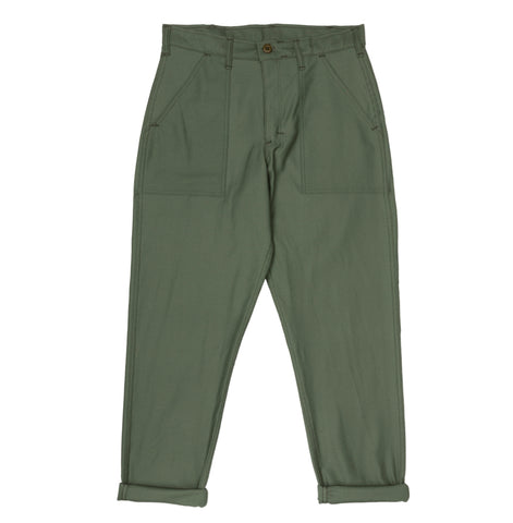 Stan Ray 1300 Slim Fatigue Pant: Olive Sateen