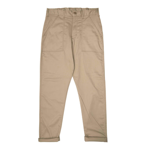 Stan Ray 1300 Slim Fatigue Pant: Khaki Twill