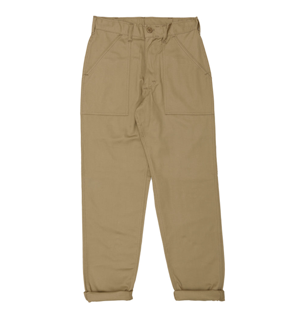 Stan Ray 1200 Tapered Fatigue Pant: Khaki Twill - The Union Project