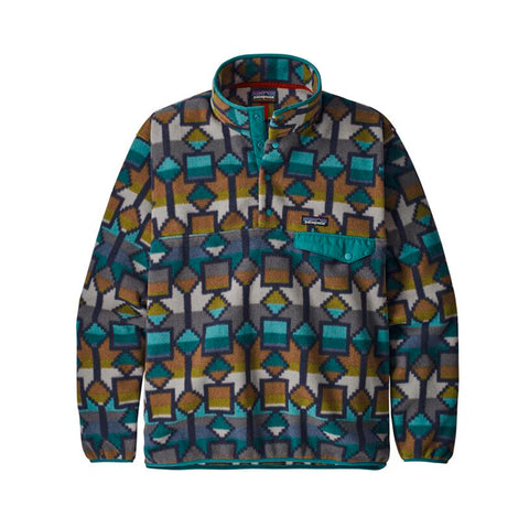 Patagonia LW Synch Snap-T P/O: Cedar Mesa Big: New Navy