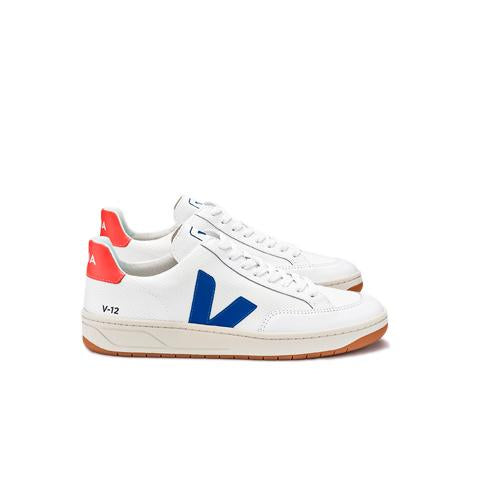 Veja Womens V-12 B-Mesh: White/Indigo/Orange - The Union Project