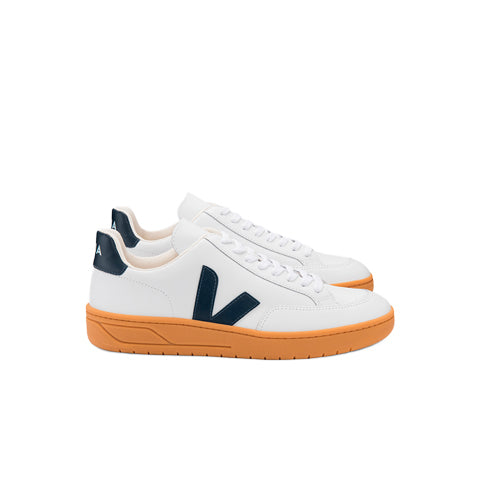 Veja V-12 Leather: White / Nautico / Gum Sole