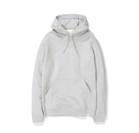Hoods & Sweats Norse Projects Vagn Classic Hood: Light Grey Melange - The Union Project, Cheltenham, free delivery