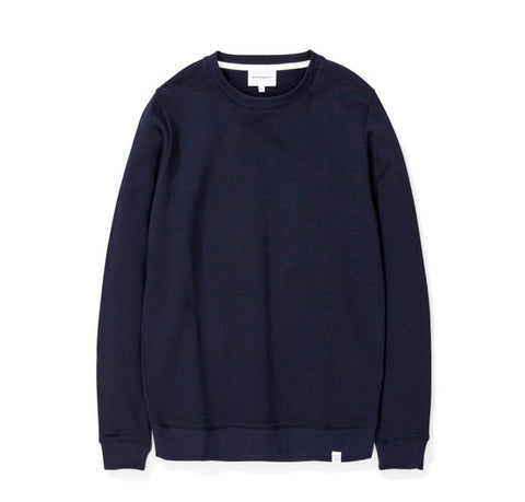 Hoods & Sweats Norse Projects Vagn Classic Crew: Dark Navy - The Union Project, Cheltenham, free delivery