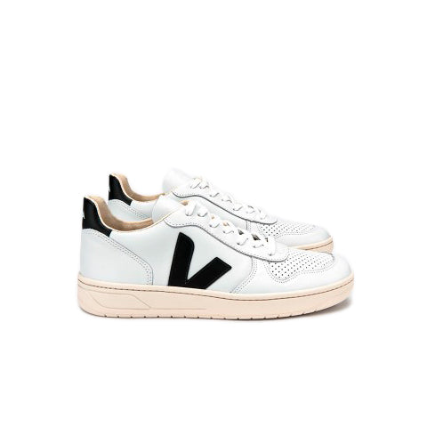 Footwear Veja V-10: White/Black - The Union Project, Cheltenham, free delivery