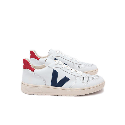 Footwear Veja V-10: Extra White/Nautico Pekin - The Union Project, Cheltenham, free delivery