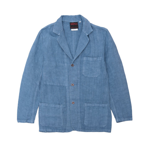 Outerwear Vetra Heavy Linen 24 Blazer: Isatis LT Blue - The Union Project, Cheltenham, free delivery