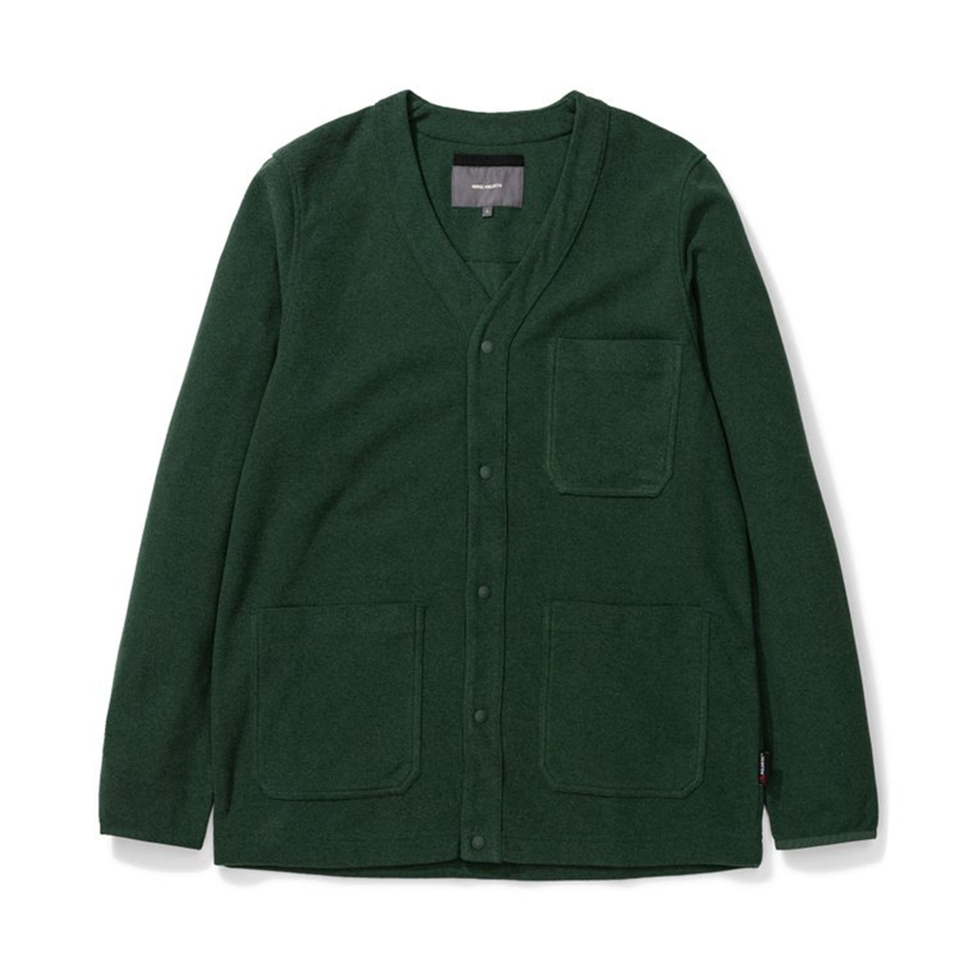 Norse Projects Vidar Fleece Jacket: Dartmouth Green - The Union Project