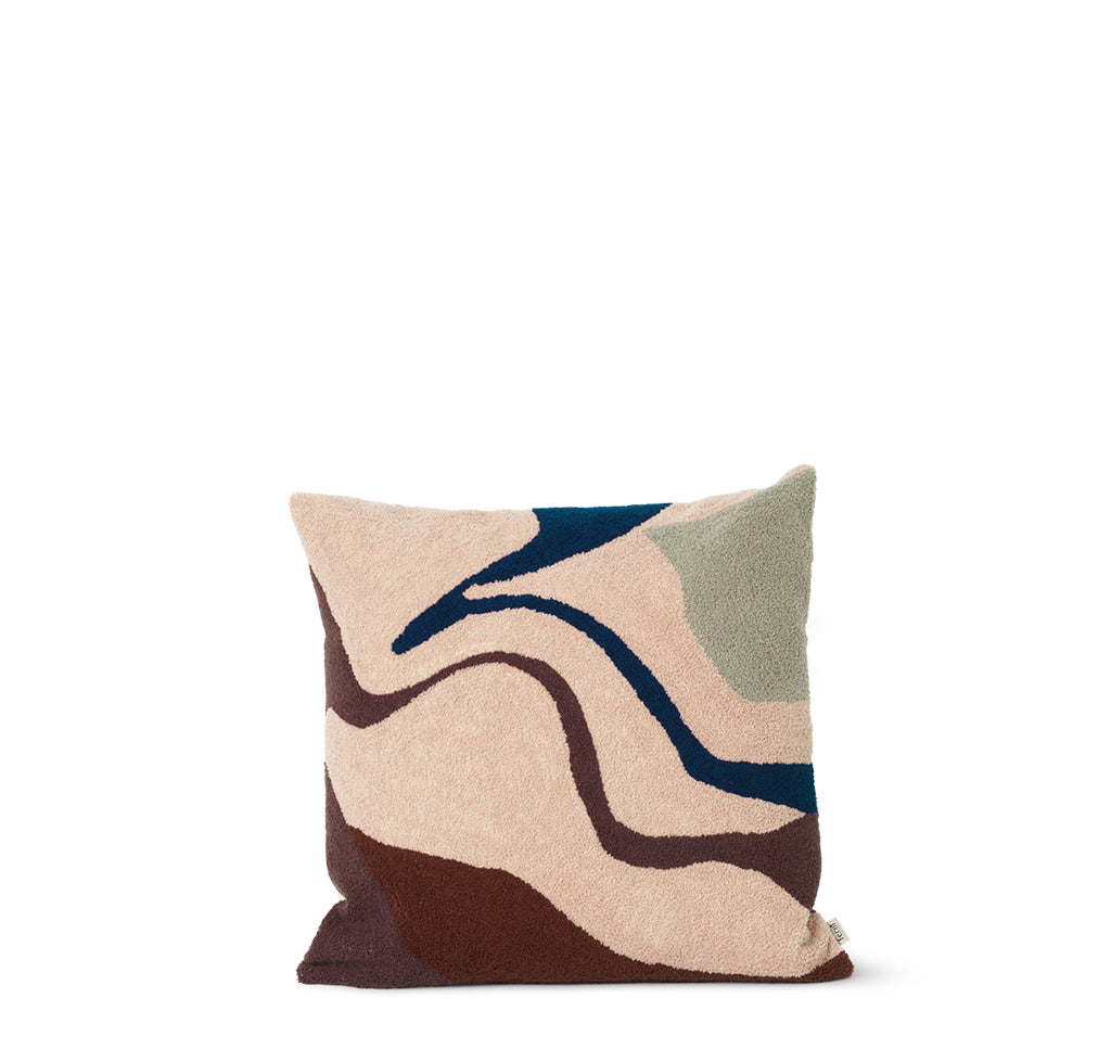 Ferm Living Vista Cushion: Beige - The Union Project