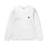 Longsleeve Pocket T-Shirt: White