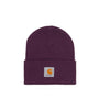 Carhartt WIP Acrylic Watch Hat: Boysenberry