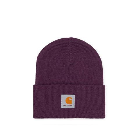 Headwear Carhartt WIP Acrylic Watch Hat: Boysenberry - The Union Project, Cheltenham, free delivery