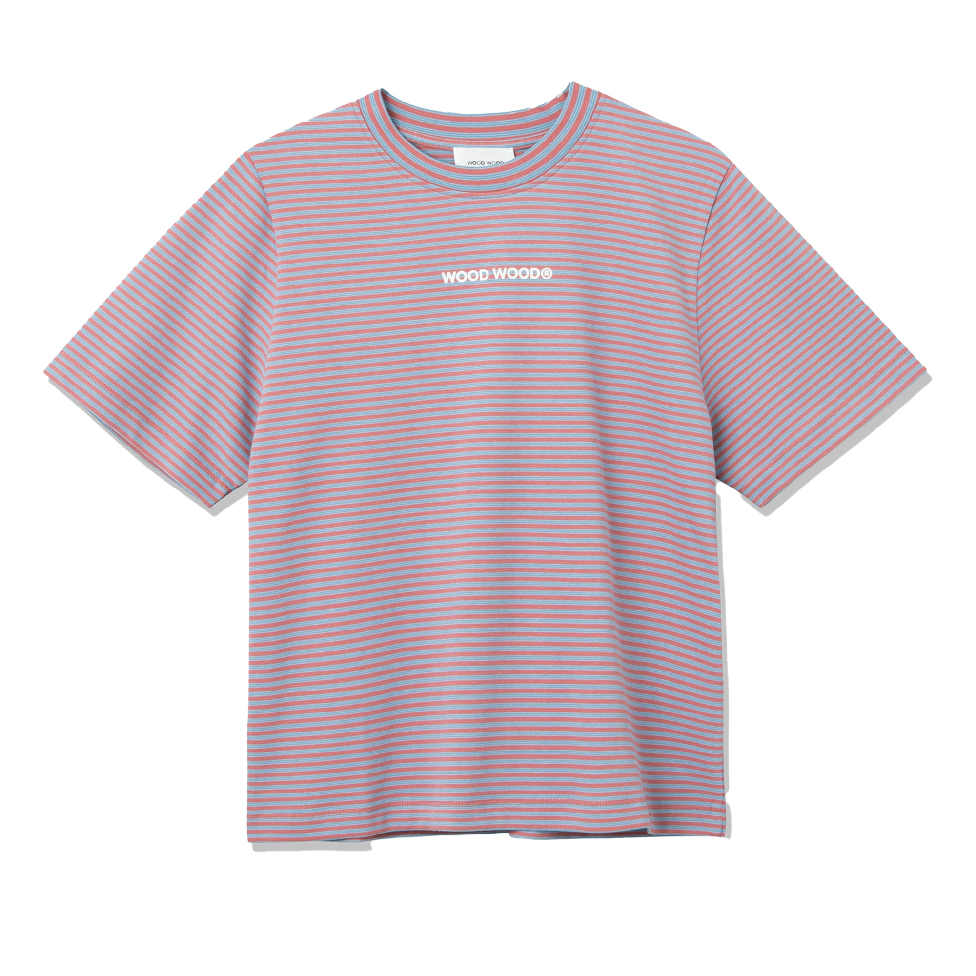 Wood Wood Womens Alma Heavy T-Shirt: Rose Stripes - The Union Project