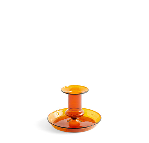 HAY Flare Candle Holder: Amber