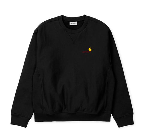 Hoods & Sweats Carhartt WIP American Script Sweat: Black - The Union Project, Cheltenham, free delivery
